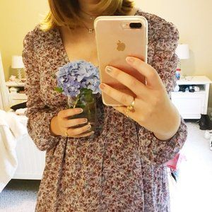 WILD FABLE PURPLE FLORAL DRESS | Large